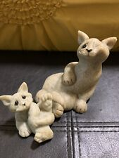 Quarry Critters Set Of Two Cats Clyde And And Carla Collectibles