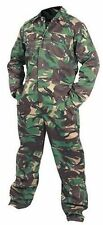 MEN'S ARMY CAMOUFLAGE OVERALLS PAINTBALL HUNTING FISHING WORK WEAR SIZE XL