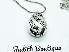 BRIGHTON  Contempo Teardrop SILVER Necklace Reversible