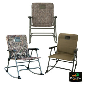 NEW BANDED GEAR FOLDING ROCKING CHAIR - PADDED CAMP CHAIR CAMPING HUNTING -