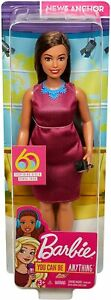 Barbie News Anchor Doll Brunette Curvy Doll with Microphone You Can Be Anything