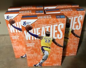LEBRON JAMES Wheaties Box Los Angeles Lakers 15.6 oz Lot Of 5 Boxes New Sealed