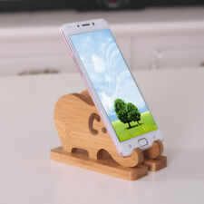 Cell Phone Stand Elephant Shape Bamboo Wood Phone Holder Bamboo Desk Organizer