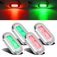 4x Boat Navigation LED Lighting Red/Green Waterproof Marine Utility Strip Bar