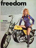 1973 NORTON COMMANDO 850 VINTAGE MOTORCYCLE AD POSTER PRINT 24x18 STYLE B 9MIL
