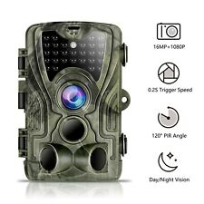 Trail Game Camera 16MP 1080P Waterproof Hunting Scouting Cam for Wildlife Monito