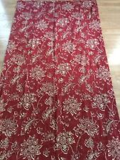 Waverly Williamsburg Everard Red Jacobean Floral CURTAIN PANELS, Lot of 2, Lined