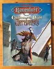 RAVENLOFT CHILDREN OF THE NIGHT werebeasts-ad&d 9583 TSR WOTC donjons dragons