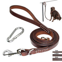 Best Dog Leashes for Large Dogs Leather Outdoor Medium Dog Lead Training Rope