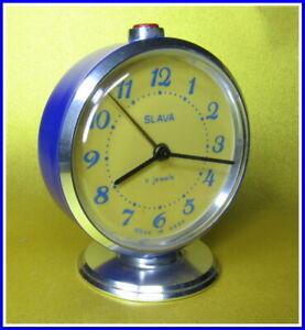 Soviet Vintage Slava Alarm Clock USSR 1980's~Perfect Condition #289213