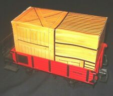LGB #94705 Red Gondola with Cardboard Crate Load