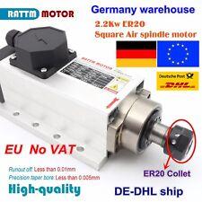【DE】 Square 2.2KW Air Cooled Spindle Motor ER20 220V 24000rpm 400Hz 6A for CNC