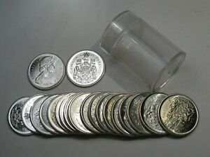 Roll (20 Coins) BU 1966 Silver 50¢ Fifty Cent CANADA.  #4