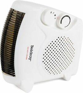 Beldray EH0569SSTK Upright/Flatbed Portable Fan Heater With Cool Air Function, 2
