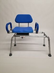 Carousel Sliding Transfer Bench w/ Swivel Seat pad armrest backrest lefthand acc