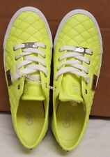 Womens G by Guess Los Angeles Neon Lime Yellow Sneakers Slip on Boat Shoes 8 New