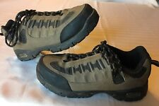 Wrangler Womens Size 7.5 M Work Wear Tan/Black Safety Steel Toe Shoes Gel Heel