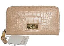 NWT Badgley Mischka Nicole Zip Around Wallet Italian Clutch Leather MSRP $178