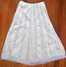 Verge New Zealand label beautiful linen & tulle latte skirt size 14 (US 10)