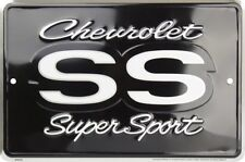 "Chevrolet SS Super Sport Chevy 8"" x 12"" Metal Sign Garage Embossed Plaque Decor"