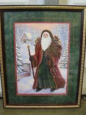 Home Interiors Homco Santa Claus Father Christmas Holiday Picture Euc G Barker