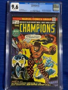 1st Appearance THE CHAMPIONS #1 CGC 9.6 NM+ Near Mint White Pages black widow