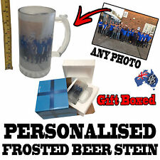 PERSONALISED FROSTED GLASS BEER STEIN - PREORDER NOW FOR DEC SHIPPING