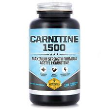 Carnitine 1500 | N-Acetyl L-Carnitine HCl Capsules 1500mg Per Serving | 120 Caps