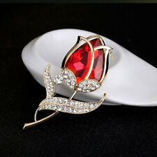 Crystal Party Accessories Tulip Brooches Glass Brooches Brooch Rhinestone