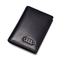 Audi Genuine Leather Business Card Case for Men Credit ID Card Holder for Women