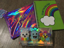 Claire's Lipgloss Rainbow Keychain Backpack Clip Cosm Bag Diary Lot
