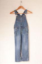 Vintage Girl's Denim Dungarees Mid Blue (W24 L30)