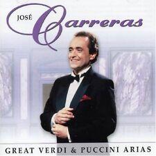 CD JOSE CARRERAS OPERA GREAT VERDI & PUCCINI ARIAS ADIO FIORITO DE'MIEI BOLLENTI