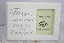Wedding Photo Frame To Have & To Hold From This Day Forward Picture Verse F0582