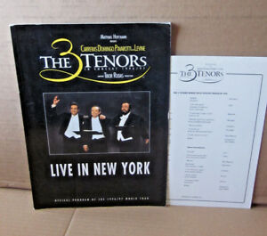 THREE TENORS program 3 Live in New York Carreras opera Domingo & Pavarotti 1997