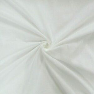 100% Egyptian Cotton Muslin Fabric White Cream Soft Craft Material CheeseCloth