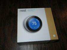 NEST T3007ES Learning Thermostat 3rd Gen Stainless Steel Smart Google WiFi Alexa