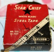 Vintage Disston Tape Measure Star Chief No. 525 With Box & Angle Finder