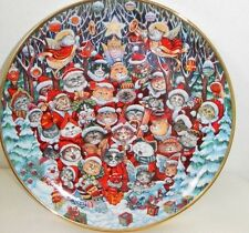 Santa Claws plate- Franklin Mint- Limited/numbered Edition- Porcelain- Bill Bell