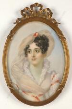 "Jean-Baptiste Isabey -Follower ""Emilie Bigottini"", large miniature, 19th century"
