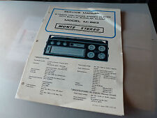 MUNTS M-883 STEREO 8-TRACK PLAYER SERVICE MANUAL