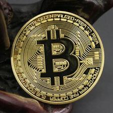 HOT Rare Collectible In Stock Golden Iron Bitcoin Commemorative Coin Gift Gold