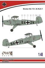 Owl 1/48 Bucker Bu-131 III./NJG 1 # S4814