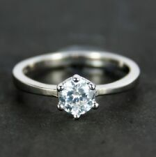Women's White Gold plated Solitaire Ring