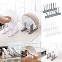 1x Kitchen Lid Pan Plate Organizer Dishs Drainer Stand Shelf Rack Storage Holder