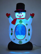 120cm High Inflatable Snowman SNOW STORM TUMMY Light Up Decoration Outdoor 1075