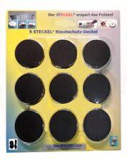 9 (!!) STECKEL schwarz erspart Putzen Staubschutz Deckel Steckdosenabdeckung
