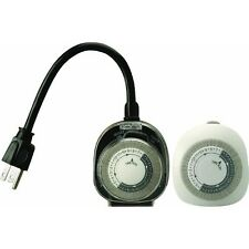 NEW Woods Outdoor Security Light Timer & Indoor Air Conditioner Appliance 2-Pack