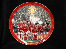 "MASSIVE MANCHESTER UNITED FC 12"" PLATE PLAQUE MOSCOW 2008 BY DANBURY MINT rrp£70"