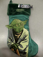 New Boys Large Green Star Wars Yoda Christmas Stocking Kurt Adler collectable